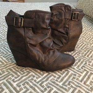 Madden Girl | Wedge Ankle Boots | 9